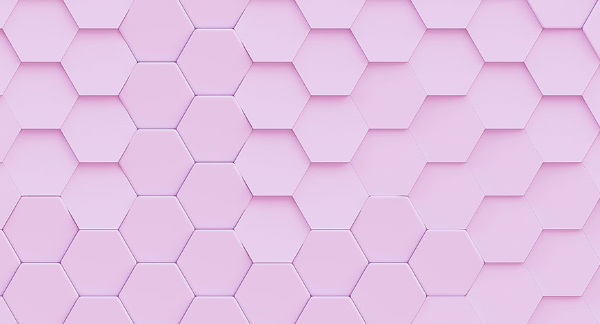 pink honeycomb of tiles