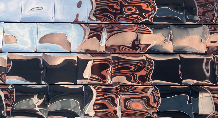 abstract metal panels